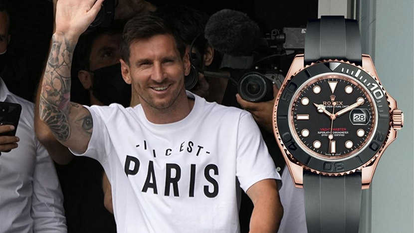 Lionel Messi and his new luxury accessory